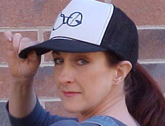 Susan in her Citizens For Truth Trucker's Hat