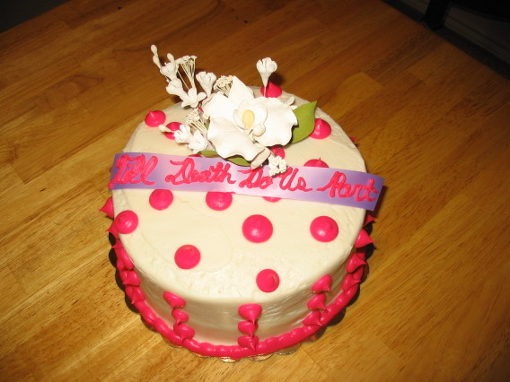Our modest cake... Do you like the saying??  :)