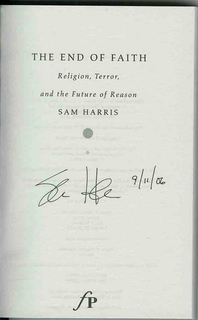 Autographed End of Faith