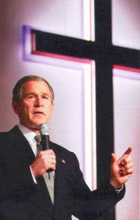 Bush is an Evangelical