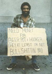 He's honest...
